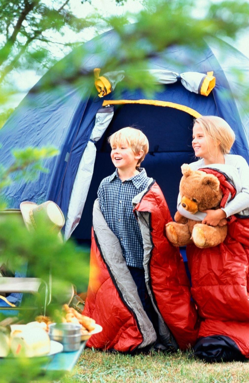 Emplacement pour les tentes au camping de Chanac